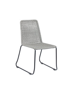 Zuo Modern CARLO DINING CHAIR BLK & DRK GRAY
