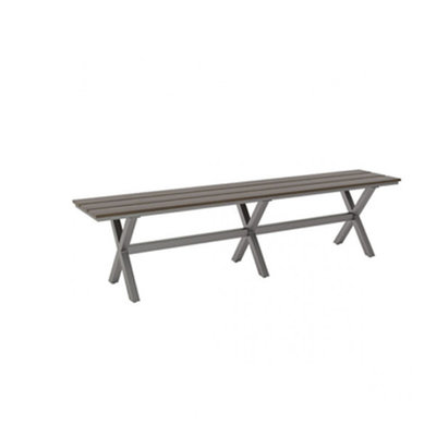 Zuo Modern Bodega Bench Grey Brown
