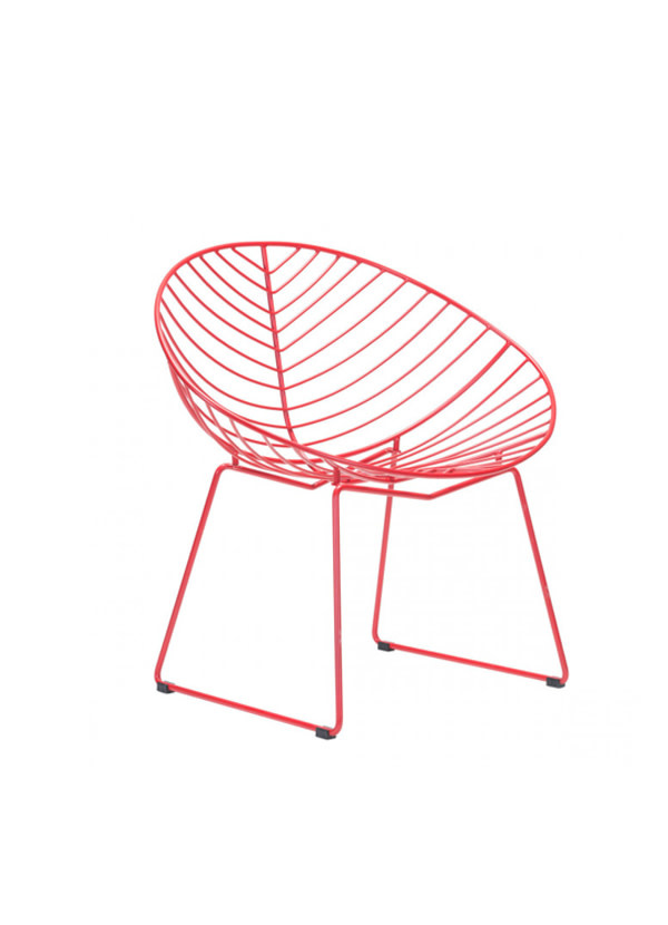 Zuo Modern HYDE OUTDOOR LOUNGE CHAIR RED