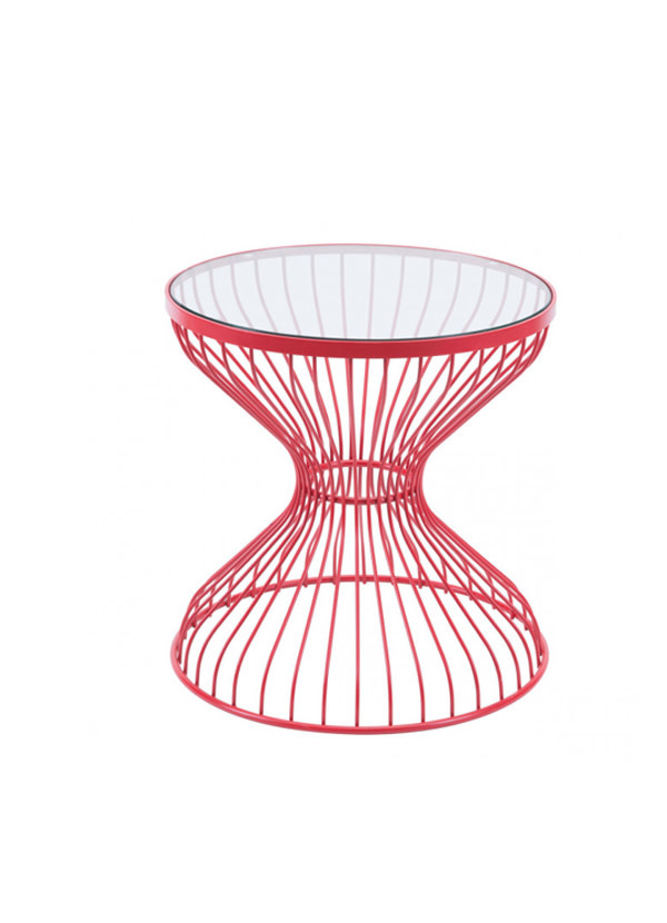 Zuo Modern ROSE SIDE TABLE RED