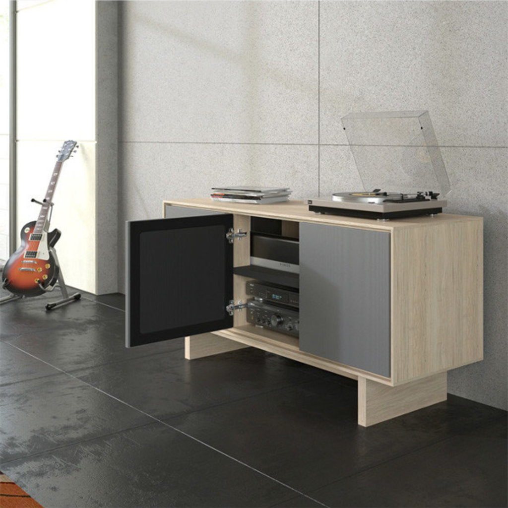 BDI Octave Media Unit Triple Drift Oak