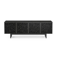 BDI Elements Ricochet Media Cabinet  Quad Charcoal