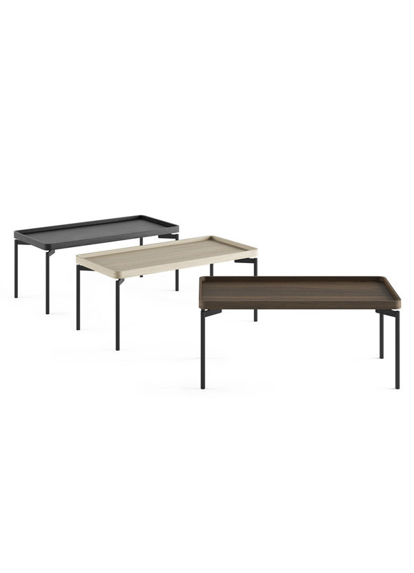 BDI RadiusT Rectangular Coffee Table Charcoal