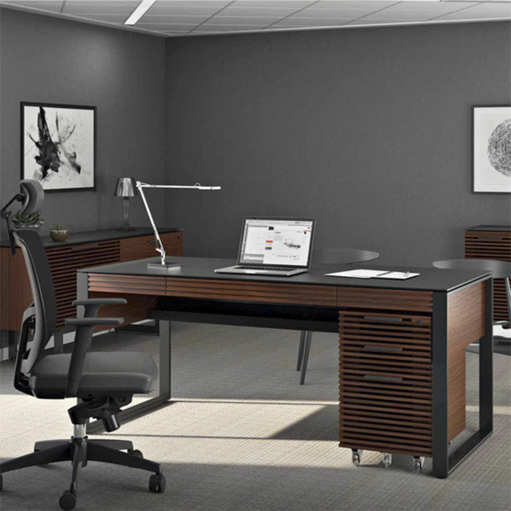 BDI Corridor Executive desk Chocolate Stained Walnut