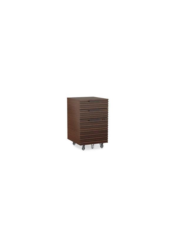 BDI Corridor Mobile File Chocolate Stained Walnut
