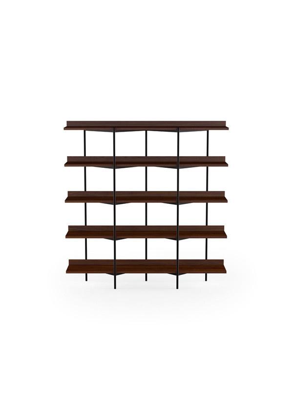 BDI Kite Five-tier shelf Chocolate Walnut/Blk