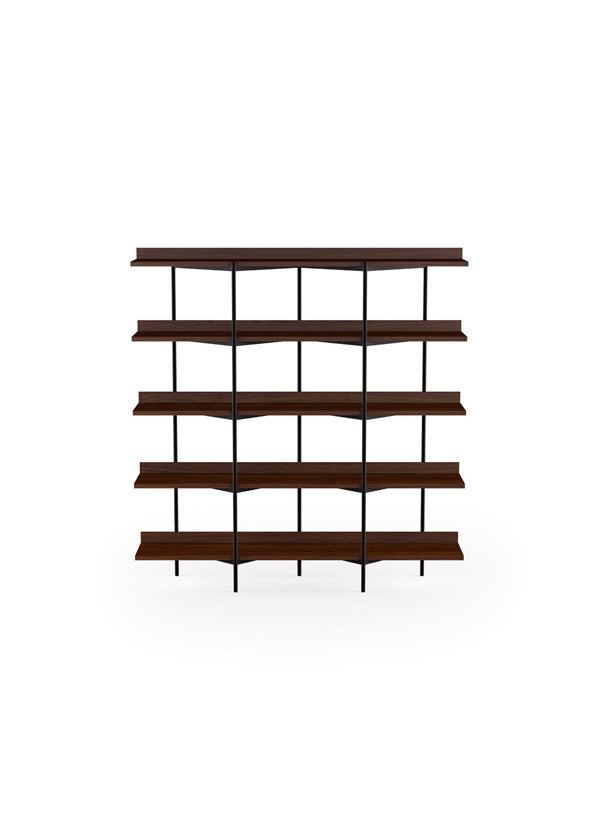 BDI Kite Six-tier shelf Toasted Walnut/Blk