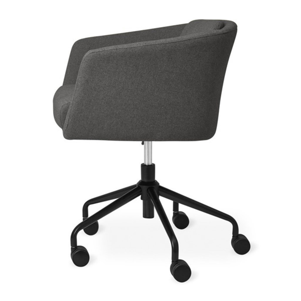 Gus Modern Radius Chair Black Powder Coat/Stockholm Graphite