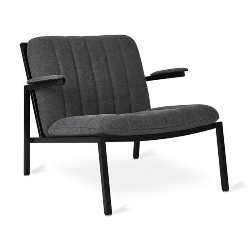 Gus Modern Dunlop Chair Black Powder Coat Vintage Mineral