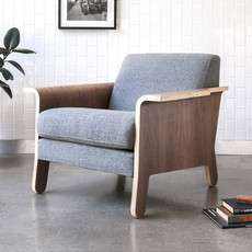 Gus Modern Lodge Chair Varsity Charcoal