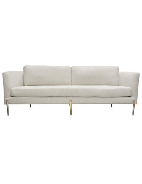 Diamond Sofa LANE SOFA LIGHT CREAM GOLD LEGS