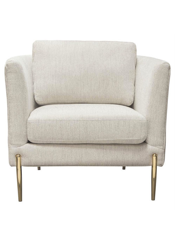 Diamond Sofa LANE CHAIR LIGHT CREAM