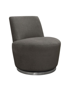 Diamond Sofa BLAKE  SWIVEL CHAIR IRON GREY FABRIC