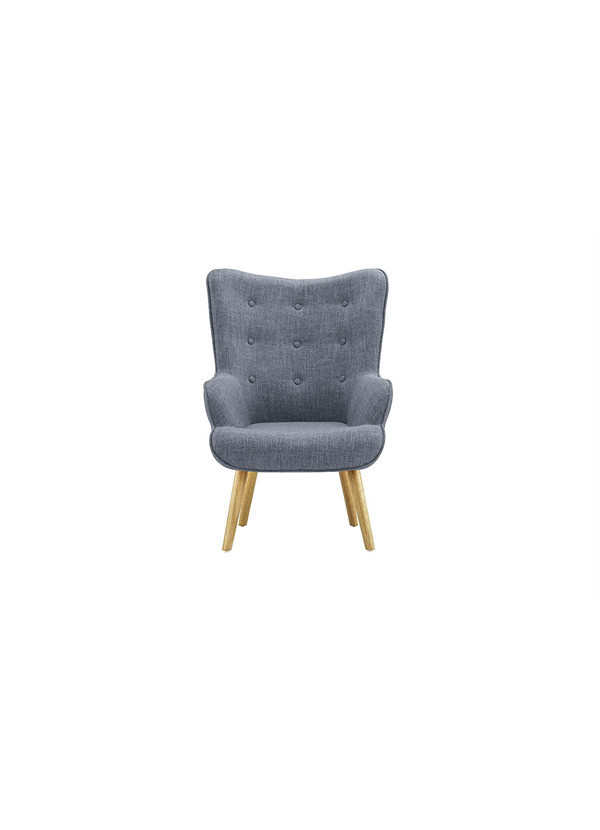 Diamond Sofa LUXE  ACCENT CHAIR WITH BUTTON LIGHT TWEED
