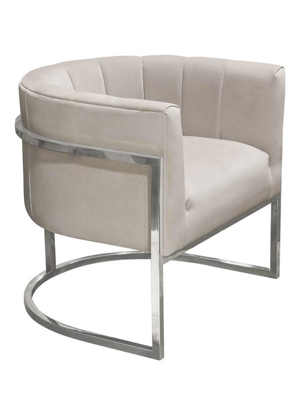 Diamond Sofa PANDORA ACCENT CHAIR MOON DUST
