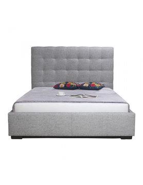 Moes Belle Storage Bed Queen Light Grey Fabric