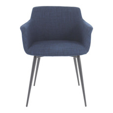 Moe's Home Collection Ronda Arm Chair Blue -M2