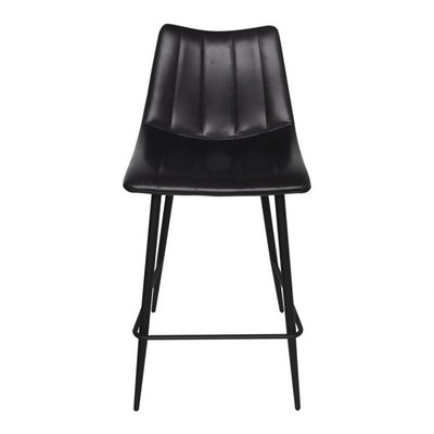 Moe's Home Collection Alibi Counter Stool Matt Black-m2