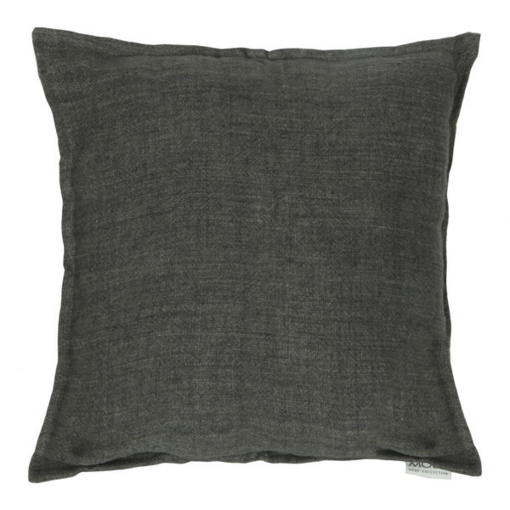 Moe's Home Collection Lemmy Linen Charcoal Pillow 20X20