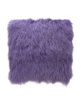 Moes LAMB FUR PILLOW PURPLE