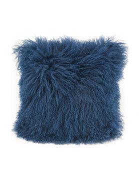 Moes LAMB FUR PILLOW BLUE