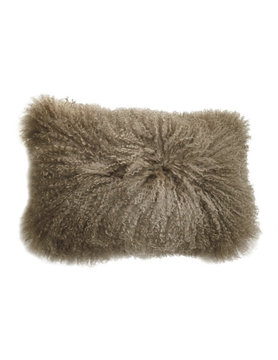 Moes LAMB FUR PILLOW RECT NATURAL
