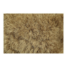 Moe's Home Collection Cashmere Fur Pillow Chartruse