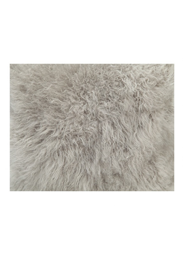 Moes CASHMERE FUR PILLOW LIGHT GREY
