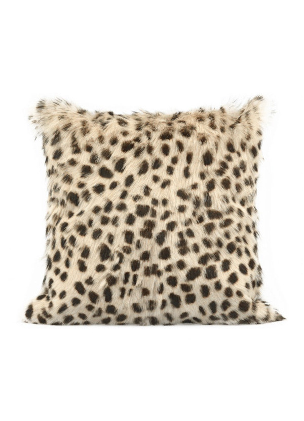 Moes SPOTTED GOAT FUR PILLOW CREAM