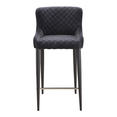 Moes Etta Bar Stool Dark Grey