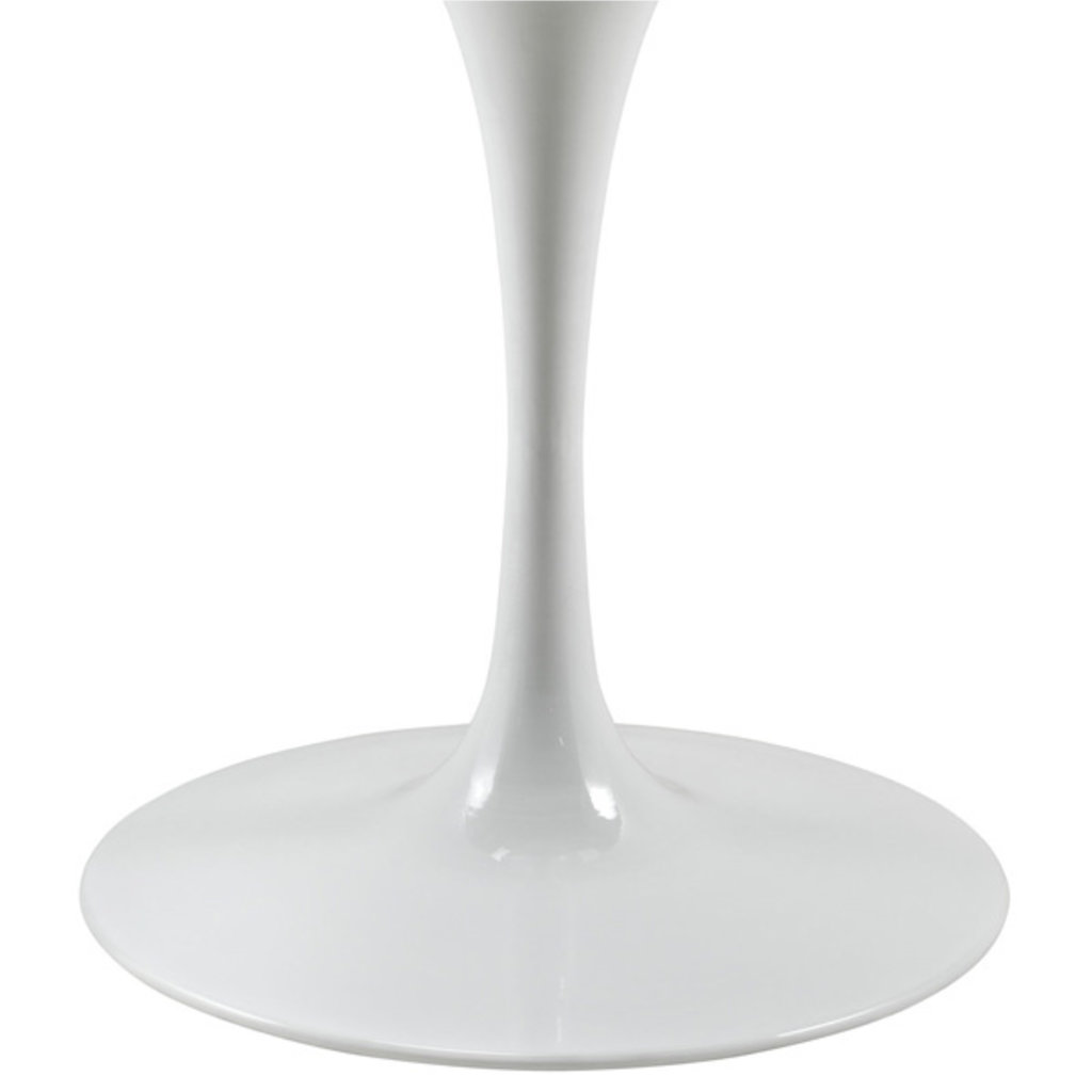"""Modway LIPPA 47"""" ROUND FAUX MARBLE DINING TABLE IN WHITE"""