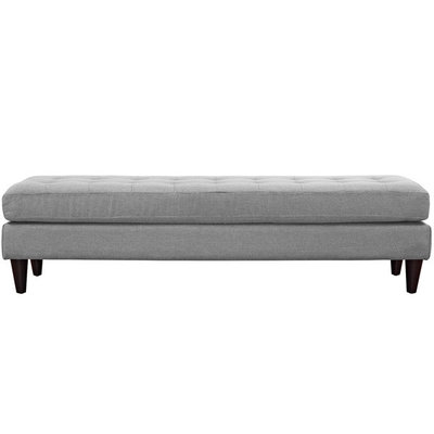Modway Empress Large Bench in Light Grey