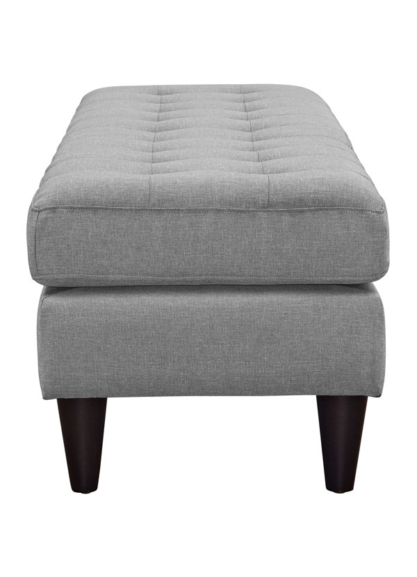 Modway EMPRESS LARGE BENCH IN LIGHT GRAY