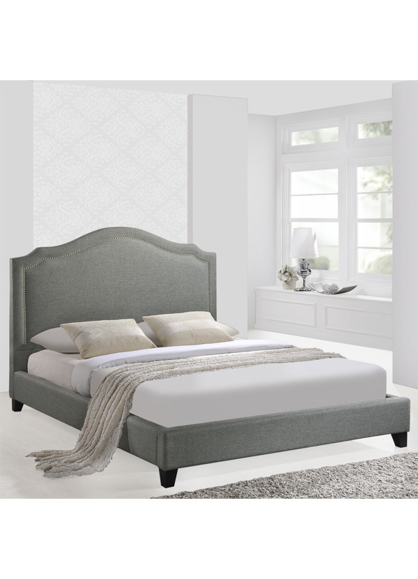 Modway CHARLOTTE QUEEN BED IN GRAY
