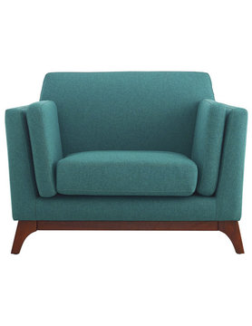 Modway CHANCE UPHOLSTERED FABRIC ARMCHAIR IN TEAL