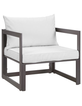 Modway FORTUNA OUTDOOR PATIO ARMCHAIR IN BROWN WHITE