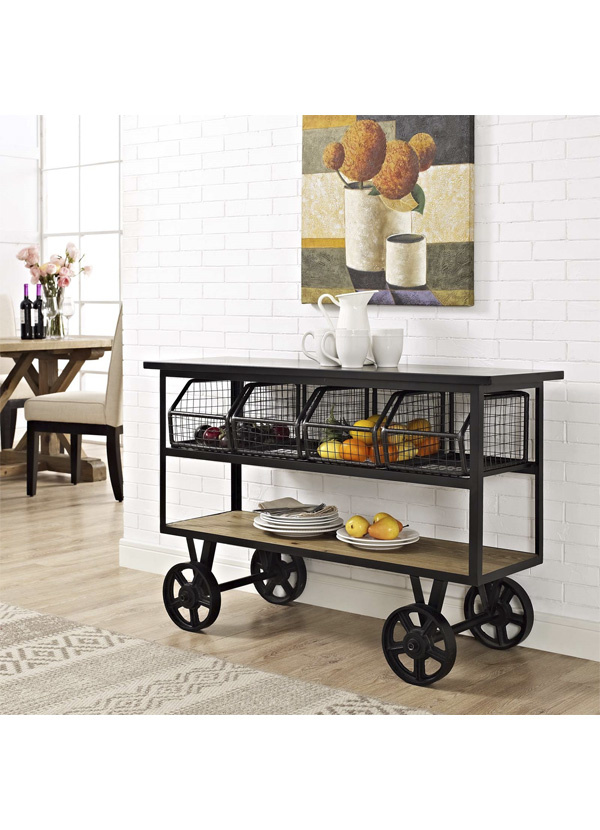 Modway FAIRGROUND SERVING STAND IN BROWN
