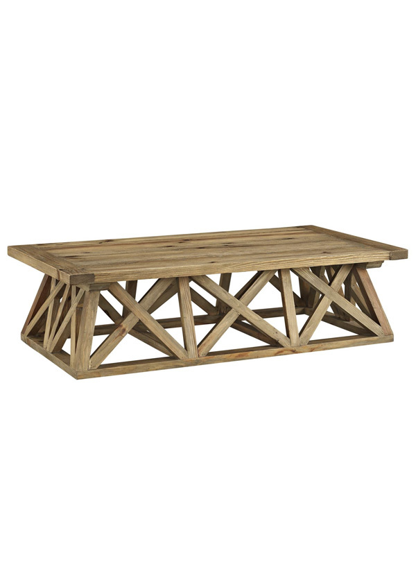 Modway CAMP WOOD COFFEE TABLE IN BROWN
