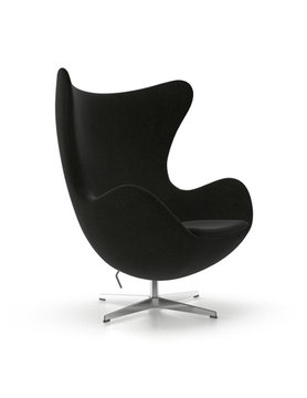 AEON MODERN CLASSIC Lounge Chair, Upholstered Black F60999 Fabric,
