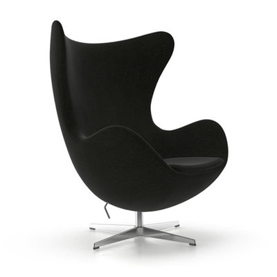 Aeon Modern Classics Columbia Lounge Chair, Upholstered Black F60999 Fabric