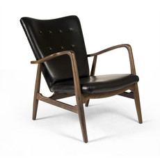 Aeon Modern Classics Addison Lounge Chair Black Leather