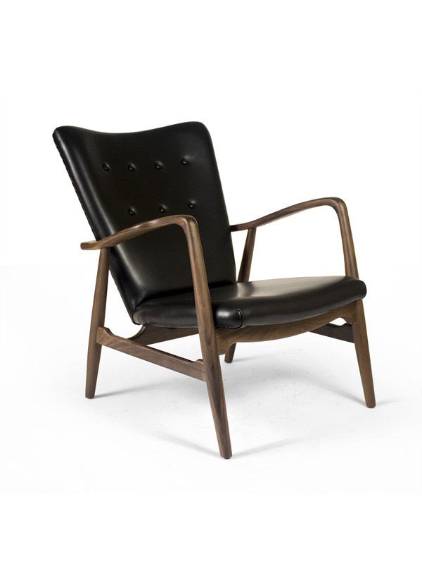 AEON MODERN CLASSIC Addison Lounge Chair in Black Leather SW009