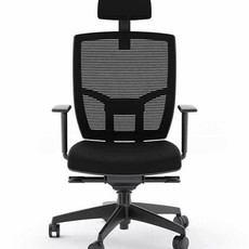 BDI Black Office Chair Fabric Seat TC-223