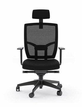 BDI TC-223 Black Office Chair (Fabric Seat)