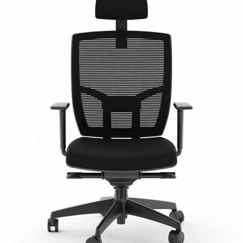 BDI Black Office Chair Fabric Seat TC-223