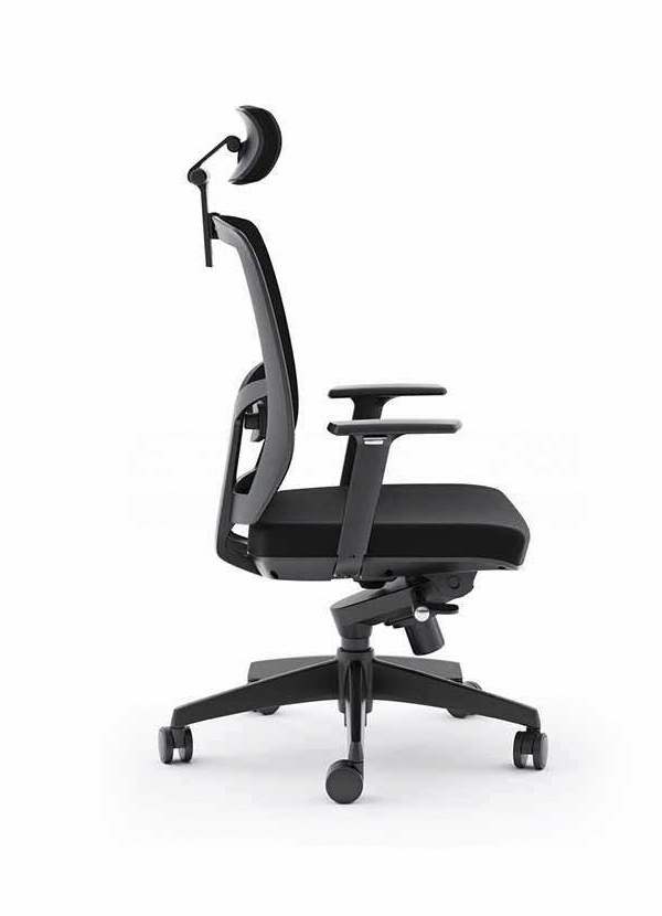 BDI TC-223 Black Office Chair (Fabric Seat)