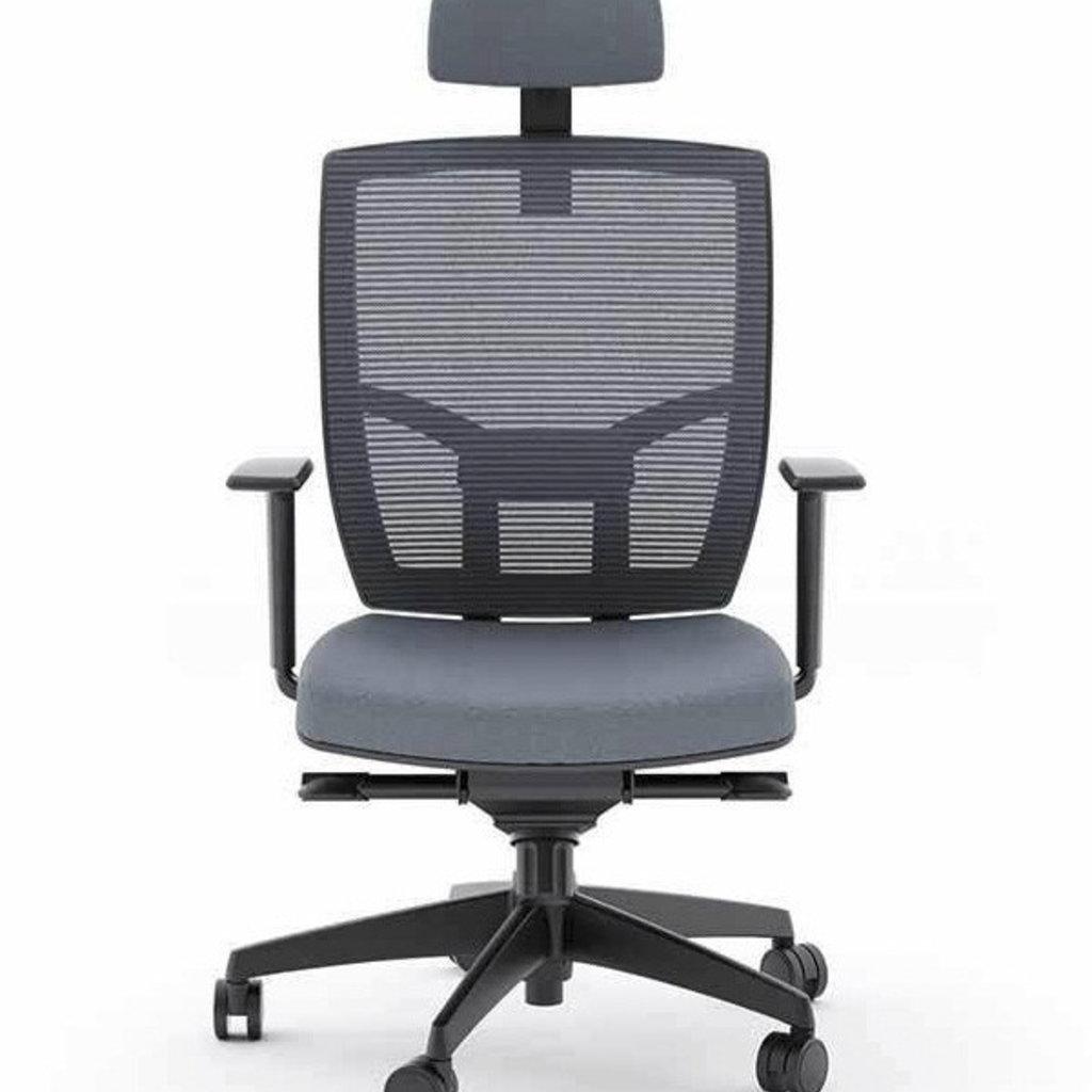 BDI Grey Office Chair Fabric Seat TC-223