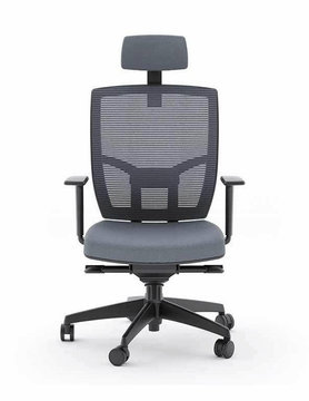 BDI TC-223 Grey Office Chair (Fabric Seat)