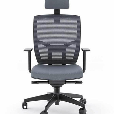 BDI Grey Office Chair Fabric Seat TC-223