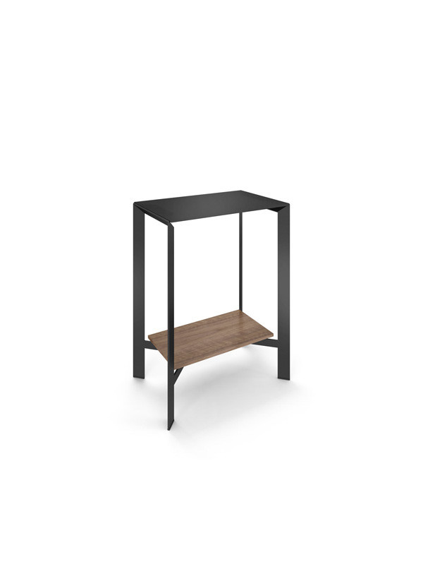 BDI Crease Natural Walnut Pedestal console Table